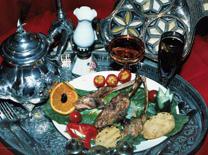 מבחר מנות מהמטבח המרוקאי