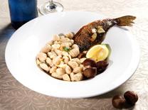 פסטה מיאה: מנות של דגים ופירות ים