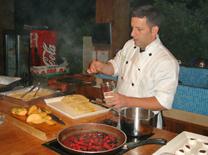 שילוב של סגנונות בישול שונים. קייטרינג מטבח בוטיק