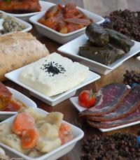 תפריט המבוסס על המטבח העותומאנ