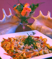 משלוח של דגים ופירות ים ממסעדה בחיפה