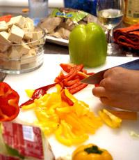 קיבלנו פוקצ'ות עם ירקות אנטיפסטי ומוצרלה