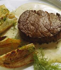 סטייק אנטריקוט עם ירקות שורש
