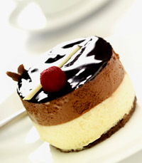 עוגת טריקולד משלוש שכבות שוקולד
