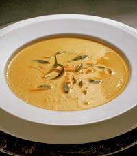 מרק קרם ערמונים עם גבינת עזים