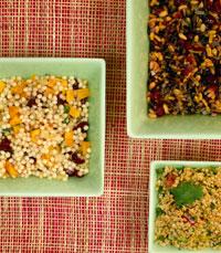 קוסקוס ופתתים ביתיים עם ירקות