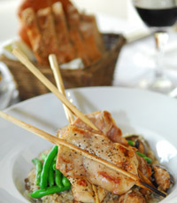 חזה עוף צלוי עם ירקות