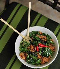 סלט סשימי, טמפורה ירקות, טופו פיקנטי