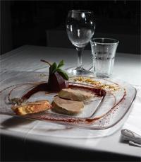 כבד אווז במסעדת לאנטריקוט דה פריז הרצליה