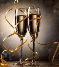 לפתוח בקבוק שמפניה דקה לחצות