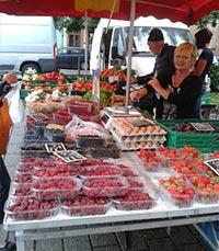שוק איכרים ססגוני בשטרסבורג