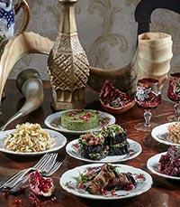 חגיגה של אוכל גרוזיני אותנטי