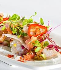 סביצ'ה דג אנטיאס של השף איל לביא