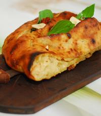 לחם פראנה בתנור עם שמן זית, שום רומרין