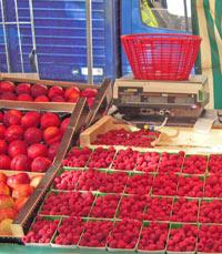 דוכן פירות בשוק פונטיין, פריס