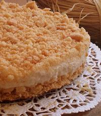 עוגת גבינה פירורים של לחם ארטיזן