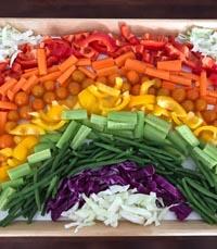 הוסיפו כל פעם ירקות חדשים לארוחה