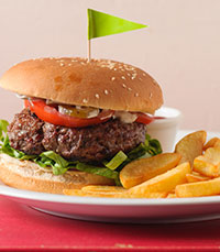 סטייק בר- תפריט המבורגרים עשיר