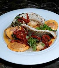 מנת דגים במסעדת ואלרו