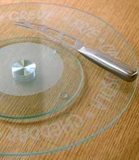צלחת זכוכית מסתובבת ברשת ספייסס