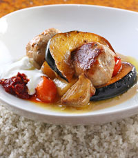 קבב דג וירקות צלויים - ממילא קפה