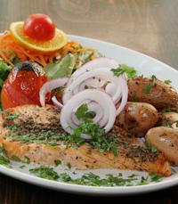 פילה סלמון, מושט, דג אפוי בתנור
