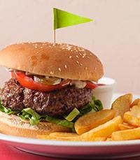 מנת הדגל של סטייק בר - המבורגר